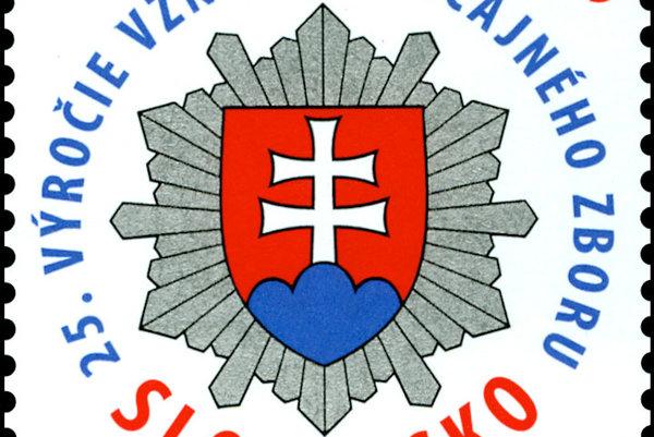 Slovenská pošta vydala poštovú známku k 25. výročiu vzniku Policajného zboru.