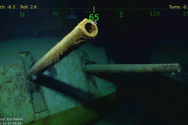 Vrak stroskotanej americkej lode USS Juneau.