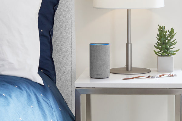 Amazon Echo - ilustračný obrázok.