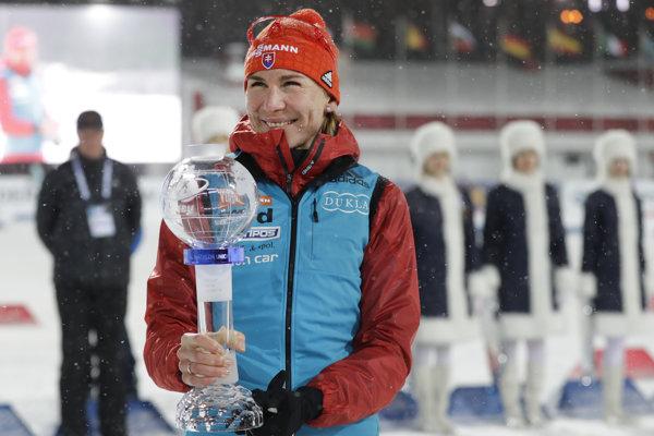 Anastasia Kuzminova je držiteľkou malého krištáľového glóbusu za šprint.