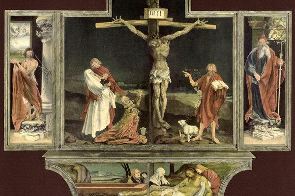 Mathias Grunewald: Ukrižovanie Krista (1513 – 1518).