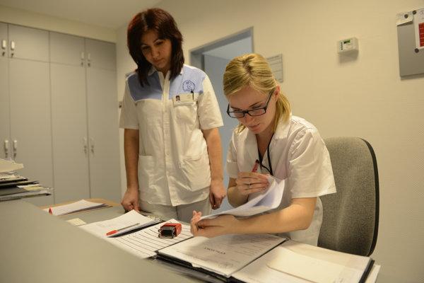 Pracovňa sestier Fakultnej nemocnice s poliklinikou J. A. Reimana v Prešove.