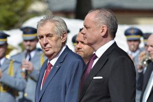 Miloš Zeman a Andrej Kiska v Tatrách.