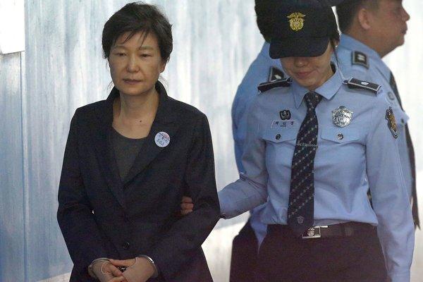 Bývalá prezidentka Južnej Kórey Pak Kun-hje.