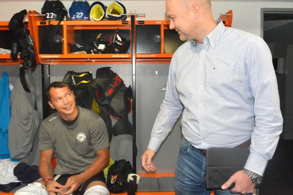 Po sezóne spolu R. Rusič (vpravo) aL. Nagy (vľavo) ešte obudúcnosti nehovorili.