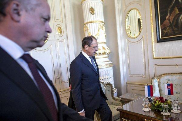 Návšteva ruského ministra zahraničných vecí Sergeja Lavrova u prezidenta Andreja Kisku.