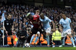 V manchesterskom derby zvíťazili hráči United.