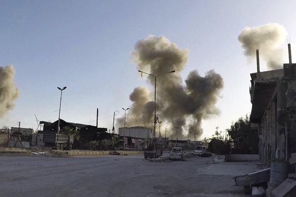 Bombardovaná sýrska Dúmá.