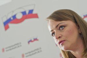 Viceprezidentka Konfederácie odborových zväzov (KOZ) SR Monika Uhlerová.