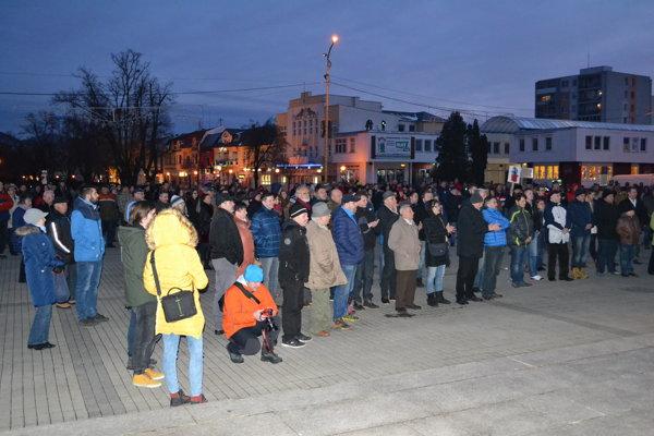 Protest v Humennom 23. marca.
