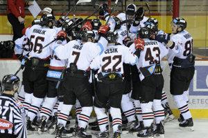 Banská Bystrica oslavuje triumf v prvom zápase finálovej série.
