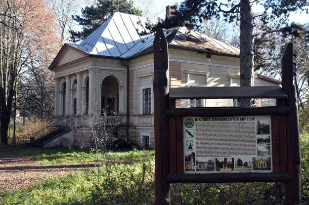 Areál bývalých Sobranských kúpeľov.