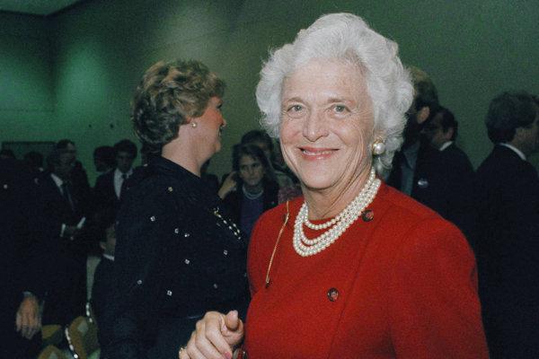 Barbara Bushová na archívnej fotke z roku 1984.