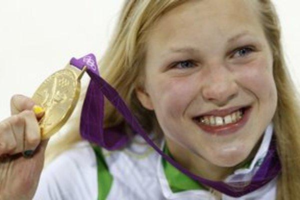 Zlatú medailu získala v Londýne aj pätnásťročná litovská prsiarka Ruta Meilutyteová.