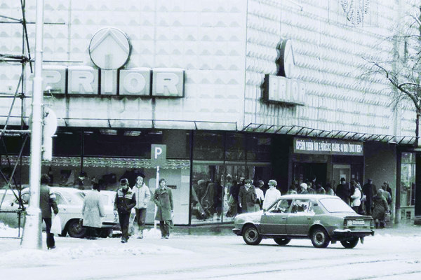 Budova obchodného domu Prior z 80. rokov minulého storočia.