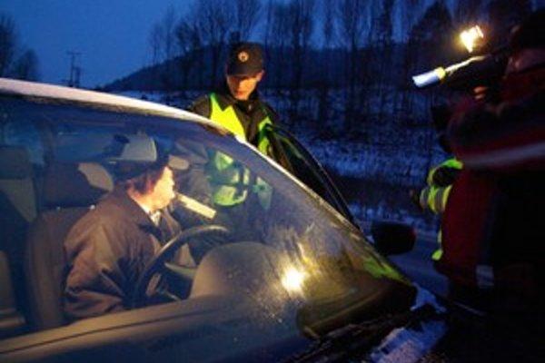 Pri dychovej skúške namerali vodičovi 1,50 promile.
