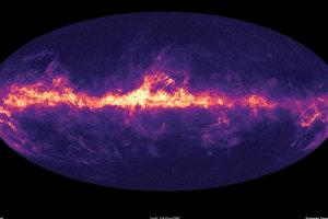 Mapa Mliečnej cesty ukazujúca medzihviezdny prach, ktorý vypĺňa našu galaxiu.