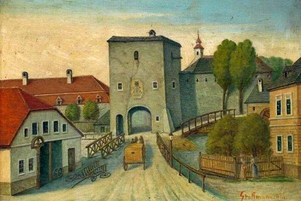 Dolná brána s baštou stáli ešte na začiatku 19. storočia.