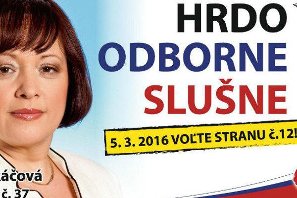 Bývalá poslankyňa za SDKÚ Jarmila Tkáčová kandiduje za SNS.