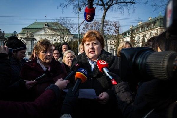 Predsedníčka Odborového združenia sestier a pôrodných asistentiek Monika Kavecká.