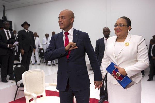 Michel Martelly s manželkou.