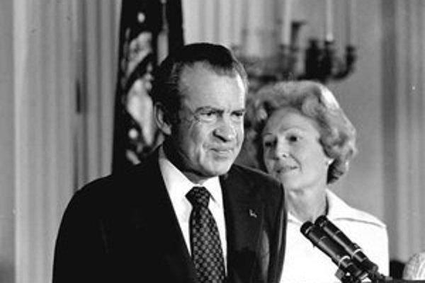 Prezident Nixon s manželkou Pat.