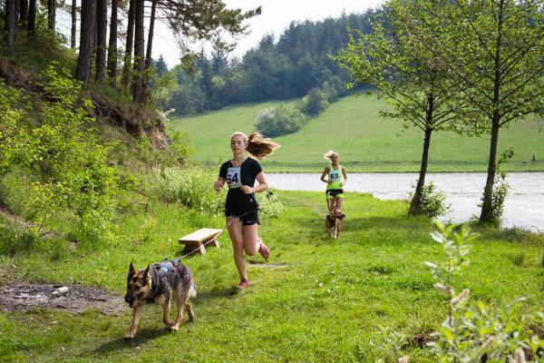 Rajecký canicross zažíva rok čo rok väčší počet účastníkov.
