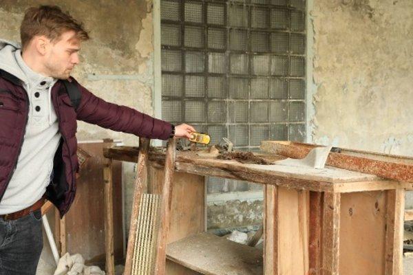Martin Dubeň počas jednej z návštev Černobyľu.