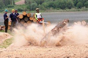 Stínka stromu je jednou z disciplín súťaží s motorovou pílou.
