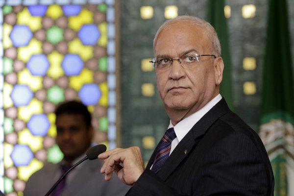 Hlavný palestínsky vyjednávač Saíb Irikát.