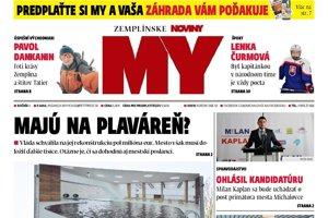 Titulná strana týždenníka MY Zemplínske noviny č. 19/2018.