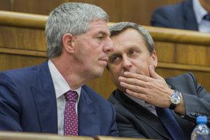 7. septembra 2017. Bugár a Danko počas hodiny otázok v Národnej rade SR v Bratislave.