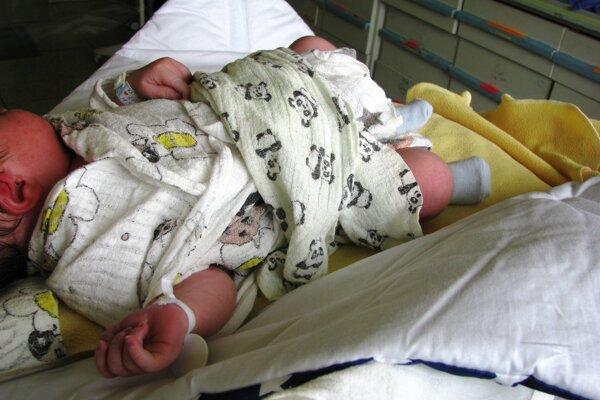 Barbora Švidraňová porodila v žilinskej nemocnici malého Gabriela.