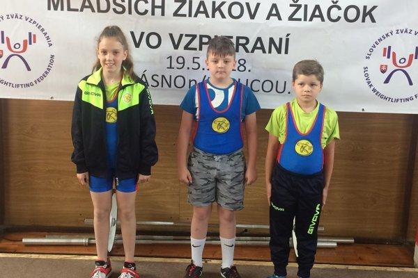 Mladí vzpierači z Kysuckého Nového Mesta.