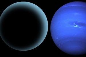 Deviata planéta môže byť štyrikrát väčšia ako zem (vľavo) a podobá sa na Urán (v strede) a Neptún (vpravo).