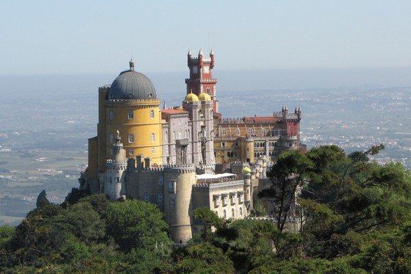 Sintra - kráľovský palác pri Lisabone