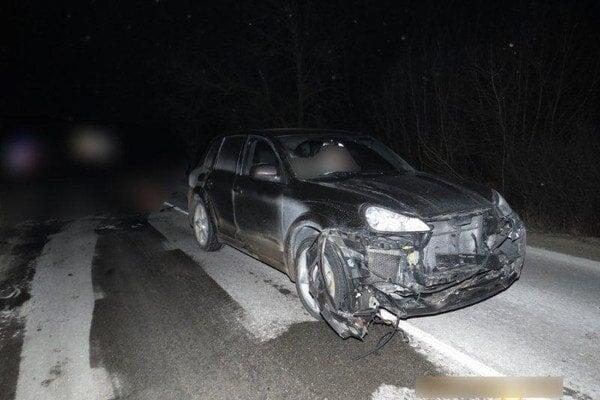 Fotografia z pondelkovej nehody.