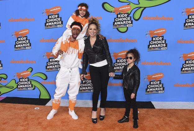 Mariah Carey s exmanželom Nickom Cannonom a ich deťmi.