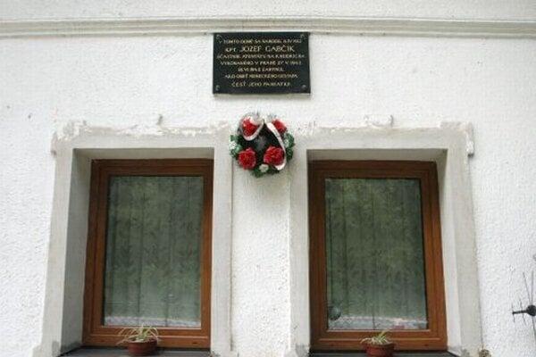 Rodný dom Jozefa Gabčíka.