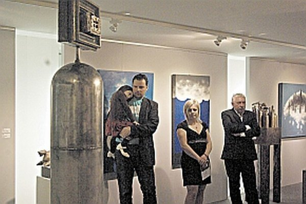 Ondrej 4. (vľavo) vystavoval v Považskej Bystrici prvý raz.