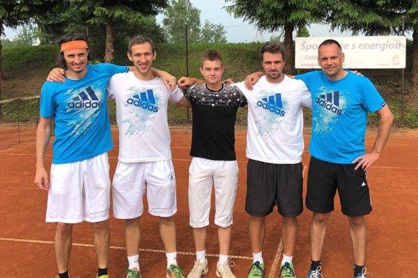 Zľava: Mataj Baliak, Peter Pištek, Boris Herman, Daniel Vala, Miloš Herman.