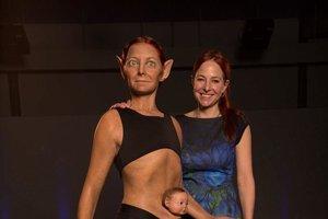 3D model tela, ktorý ukazuje ľudské telo bez evolučných problémov.