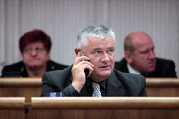 Ján Slota v parlamente.