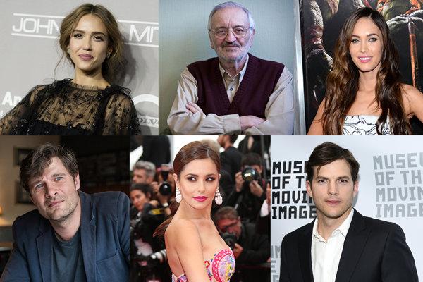 Jessica Alba, Milan Lasica, Megan Fox, Milo Kráľ, Cheryl Cole a Ashton Kutcher.