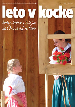 Titulná strana kalendária podujatí Leto v kocke.