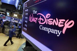 Logo spoločnosti Walt Disney na newyorskej burze.