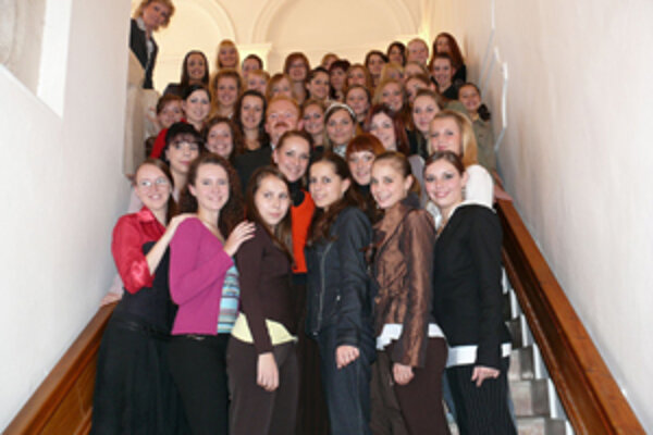 Po zisku titulu majsteriek Európy prijal žilinské mažoretky aj primátor Ivan Harman.