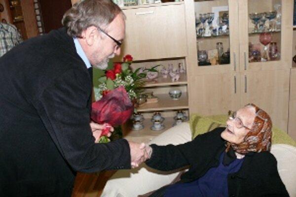 Mária Smrekovská oslávila stodva rokov.