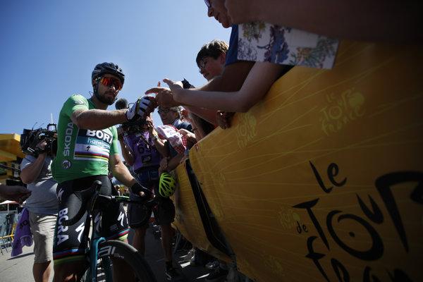 Peter Sagan pred štartom 5. etapy na Tour de France 2018.