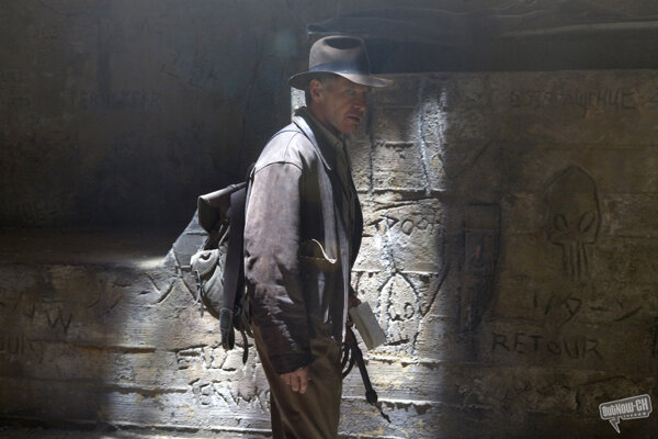 Harrison Ford ako Indiana Jones.